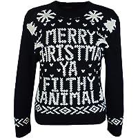 A2Z 4 KIDS Girls Boys Christmas Jumper Novelty Merry Christmas Ya Filthy Animal Sweater
