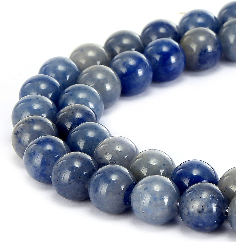 "45g Carved Blue Aventurine Oblong//Ball Beads Stretchy Bracelet 7.5/"" 28x9x5mm"