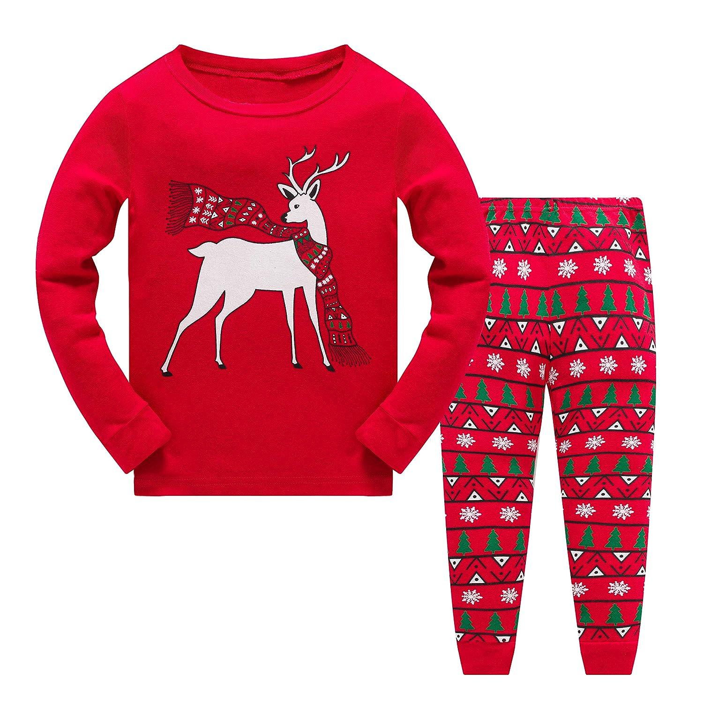 Garsumiss Boys Girls Christmas Pyjamas Set Kids Xmas Pjs Sleepwear Toddler Santa Clothes Unisex Winter Nightwear