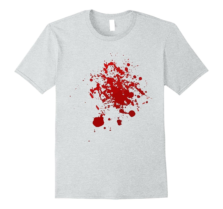 Funny Halloween Blood Splatter Scary Easy T-Shirt Costume-FL