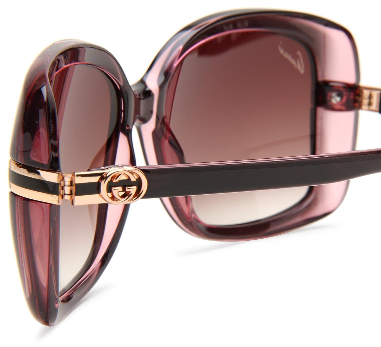 739fcb9df8709 New GUCCI Sunglasses GG 3188 GG3188 0R4 JS Brown Grey Women  Amazon.co.uk   Clothing