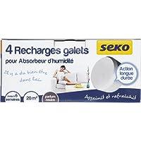 Seko R4 X500 Tabs Neutre Lot de 4 Recharges Galets de 500 g Neutre pour absorbeurs d'humidité