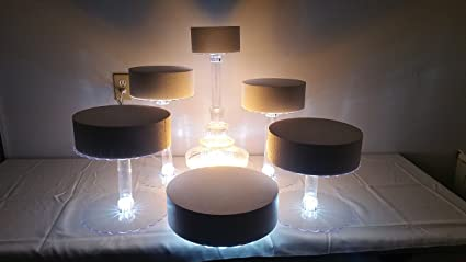 Multi Tier Wedding Cake Stand With Led Lights And Optional Water