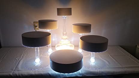 Amazon.com | Multi Tier Wedding Cake Stand with LED Lights and ...