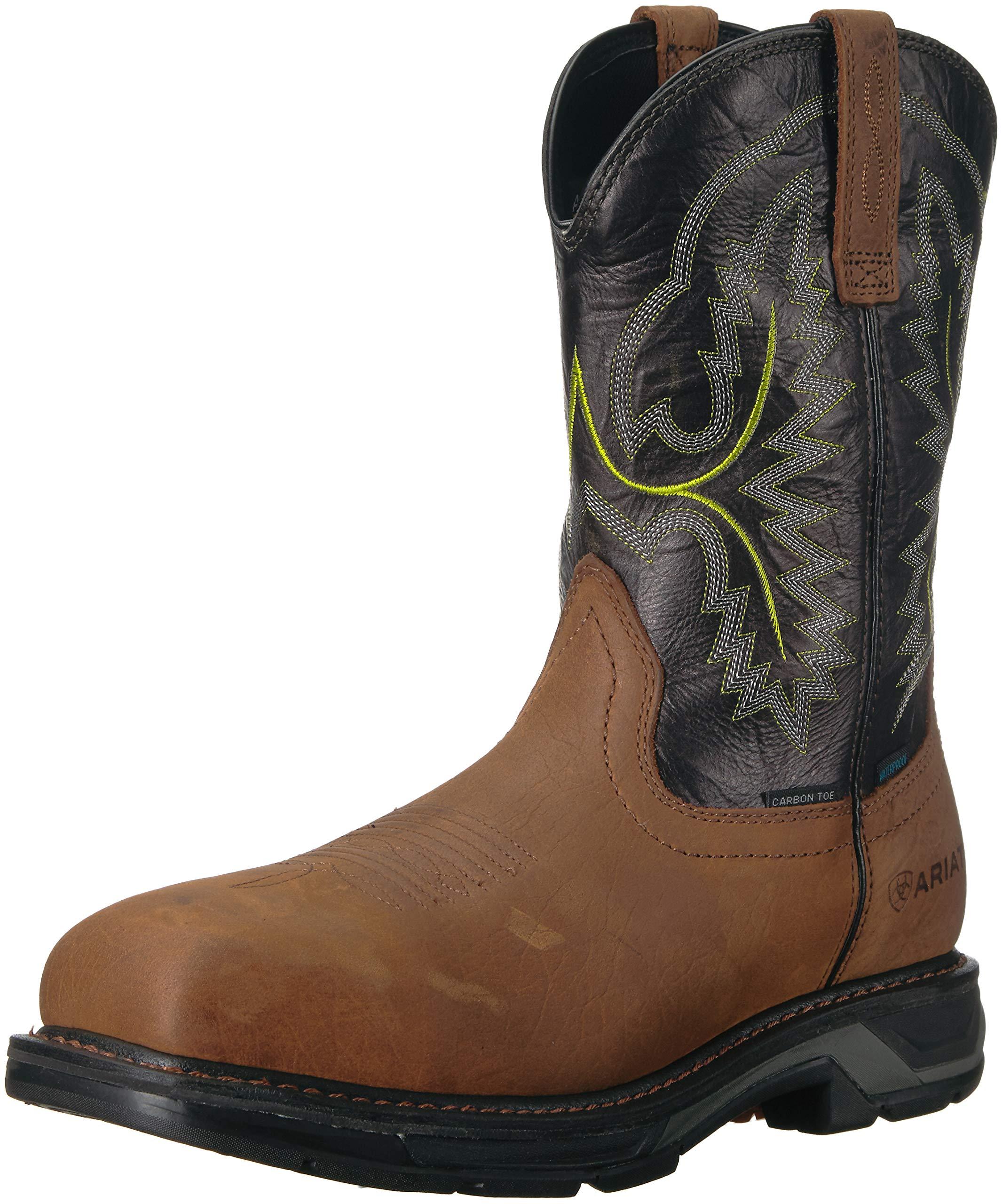 Ariat Work Men's WORKHOG XT H2O CARBON TOE Boot, tumbled bark, 10 2E US