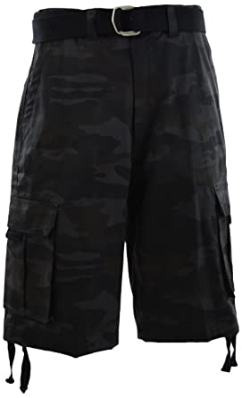 ChoiceApparel Mens Cargo Shorts with Belt (42 13428cf9450