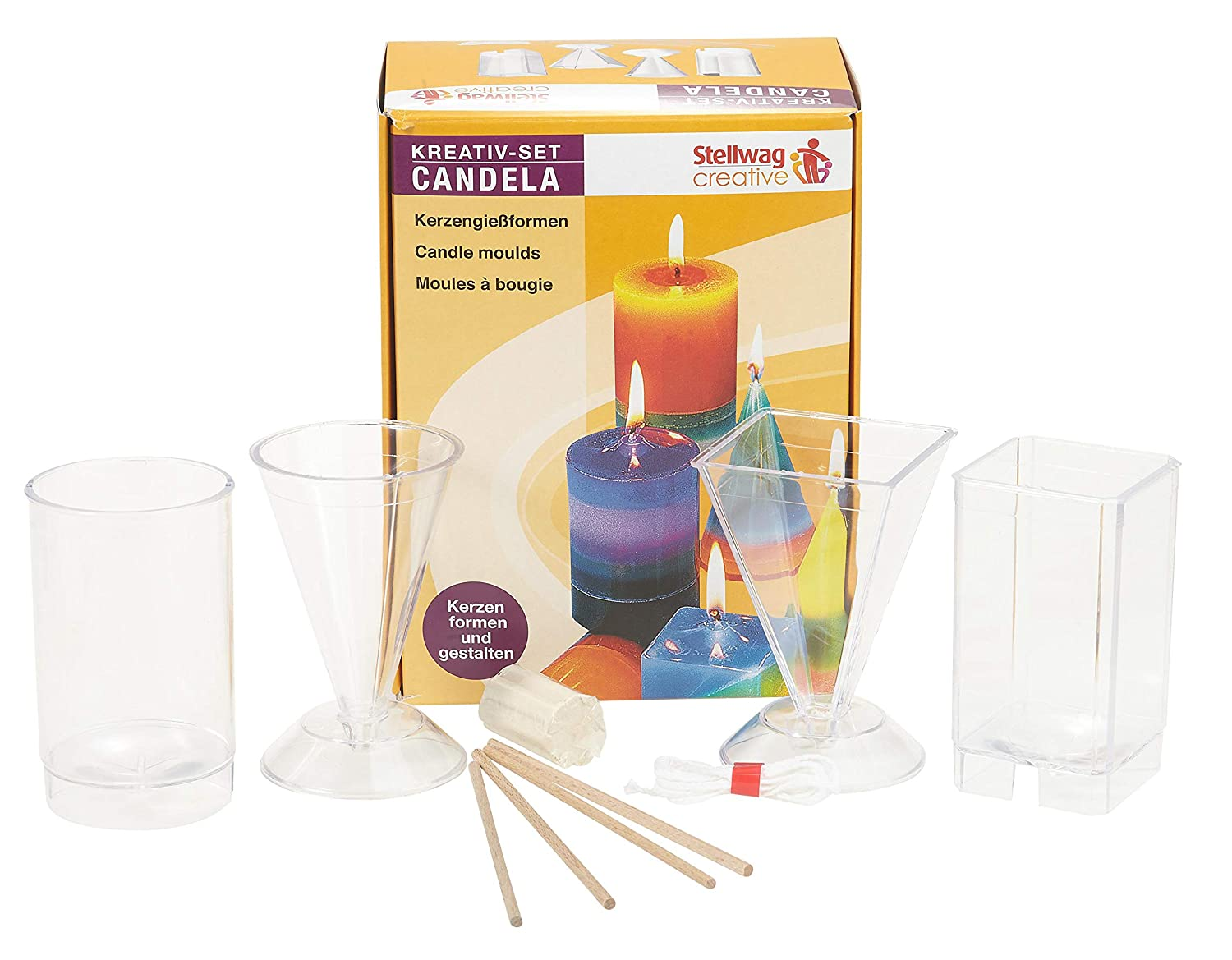 Candle Molds Set Of 4