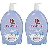 Poupina - Hygiène et Soin Bébé - Eau Nettoyante Douceur - 850 ml - Lot de 2