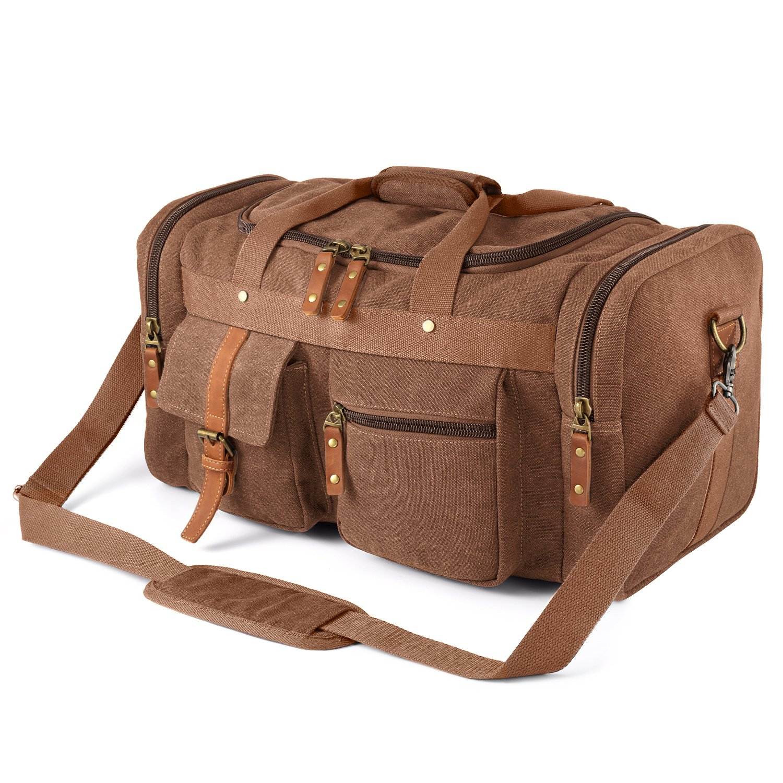 24fec34b990d Plambag Oversized Canvas Duffel Bag Overnight Travel Tote Weekend Bag