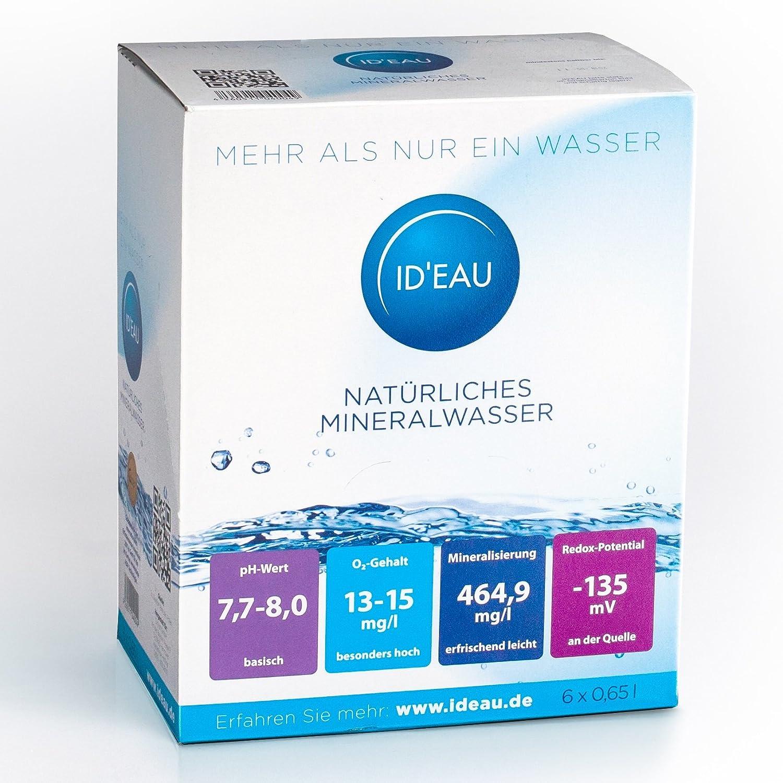 Agua Mineral ID eau regenerierendes Stilles Agua 0,65L XXL de Pack (30 x 0,65L): Amazon.es: Jardín