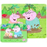 Yale Pink Pig Muddy Puddles Kid 100 Piece Jigsaw Puzzle Game for 3-8 Age,Portable Box Pack Toy