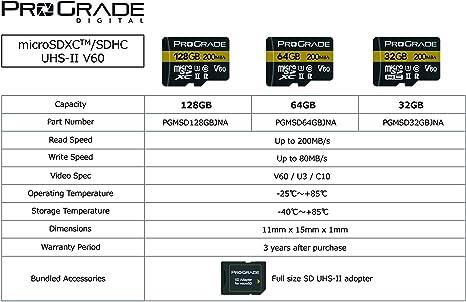 Amazon.com: ProGrade - Tarjeta de memoria digital Micro SDXC ...