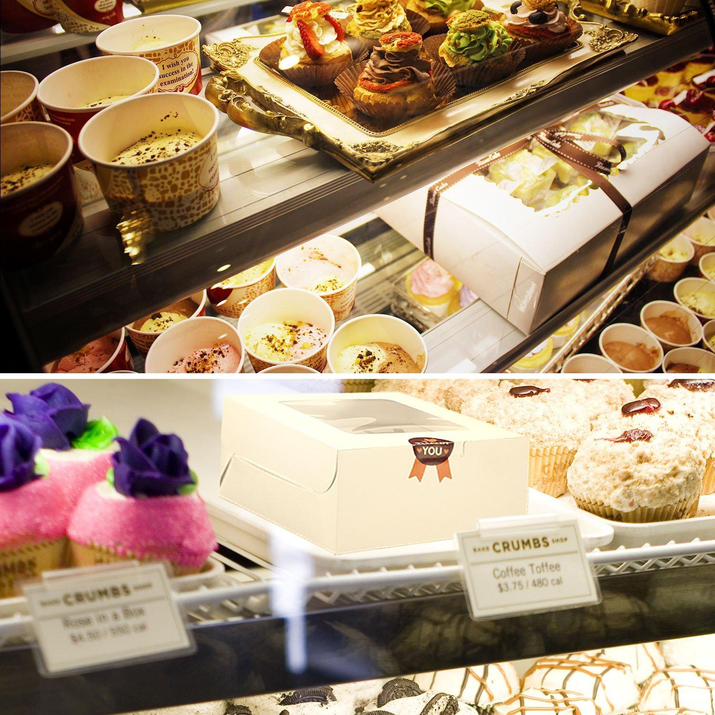 Blanc 8 Pi/èces Bo/îte /à G/âteau Muffin avec Fen/être et S/éparations pour 4 Cupcakes Diealles Cupcake Bo/îte