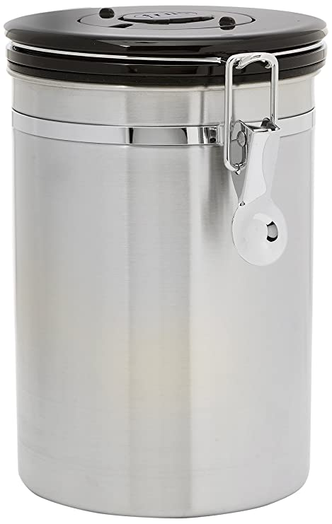 Ordinaire Friis Coffee Vault Canister, 16oz Stainless Steel