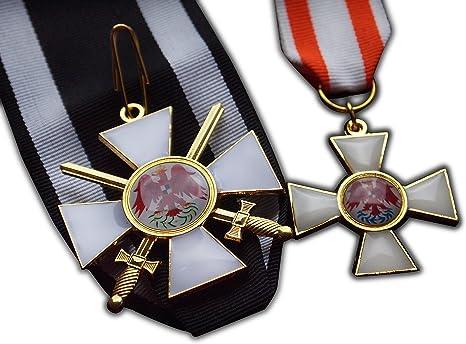 Fin de la lectura Eagle 2 nd clase + 3ª clase Set Imperial de Prusia Militar medalla réplica: Amazon.es: Deportes y aire libre