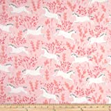 Michael Miller Flannel Sarah Jane Magic Unicorn Forest Blossom Fabric By The Yard