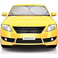 Windshield Sun Shade - 210T Fabric in The Market for Maximum UV and Sun Protection -Foldable Sunshade for car Windshield…