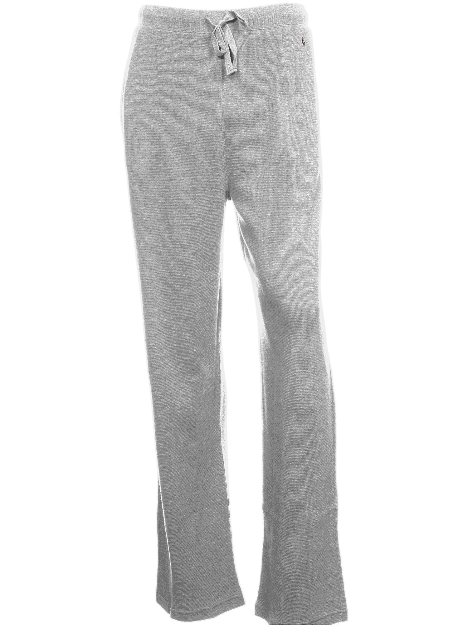 RALPH LAUREN Polo Sleepwear Men's Heather Pajama Pants (Small, Light Gray)