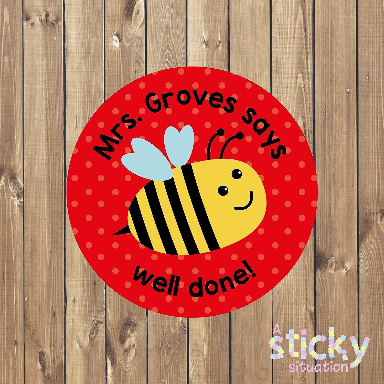 Bumble Bee Design Personalised School Reward Stickers
