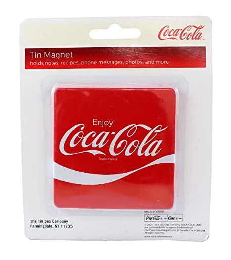 Coca-Cola - Imán para Nevera, diseño Cuadrado, Color Rojo: Amazon ...