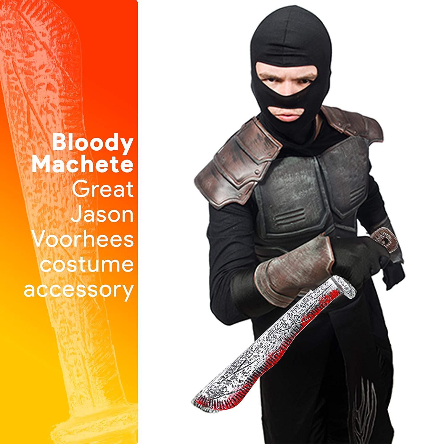 Amazon.com: Skeleteen Bloody Machete Costume Prop - Falso ...