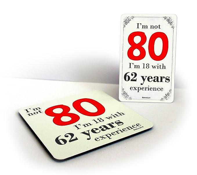 Compra No Estoy 80 cumpleaños 80th bebidas posavasos y imán ...