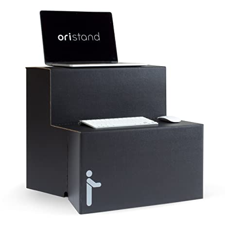 Amazoncom Oristand Standing Desk Black Strong Portable Stand