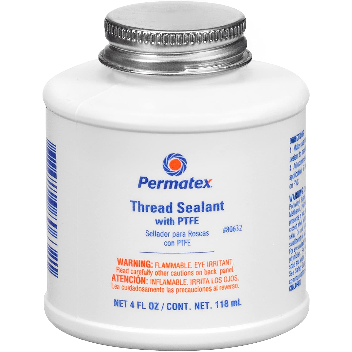 Permatex 80632 Thread Sealant with PTFE, 4 oz.