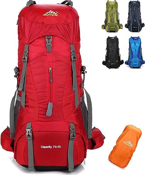 Promo Zaino da Campeggio Escursione Viaggio XXL 70L Grigio Blu RICONDIZIONATO