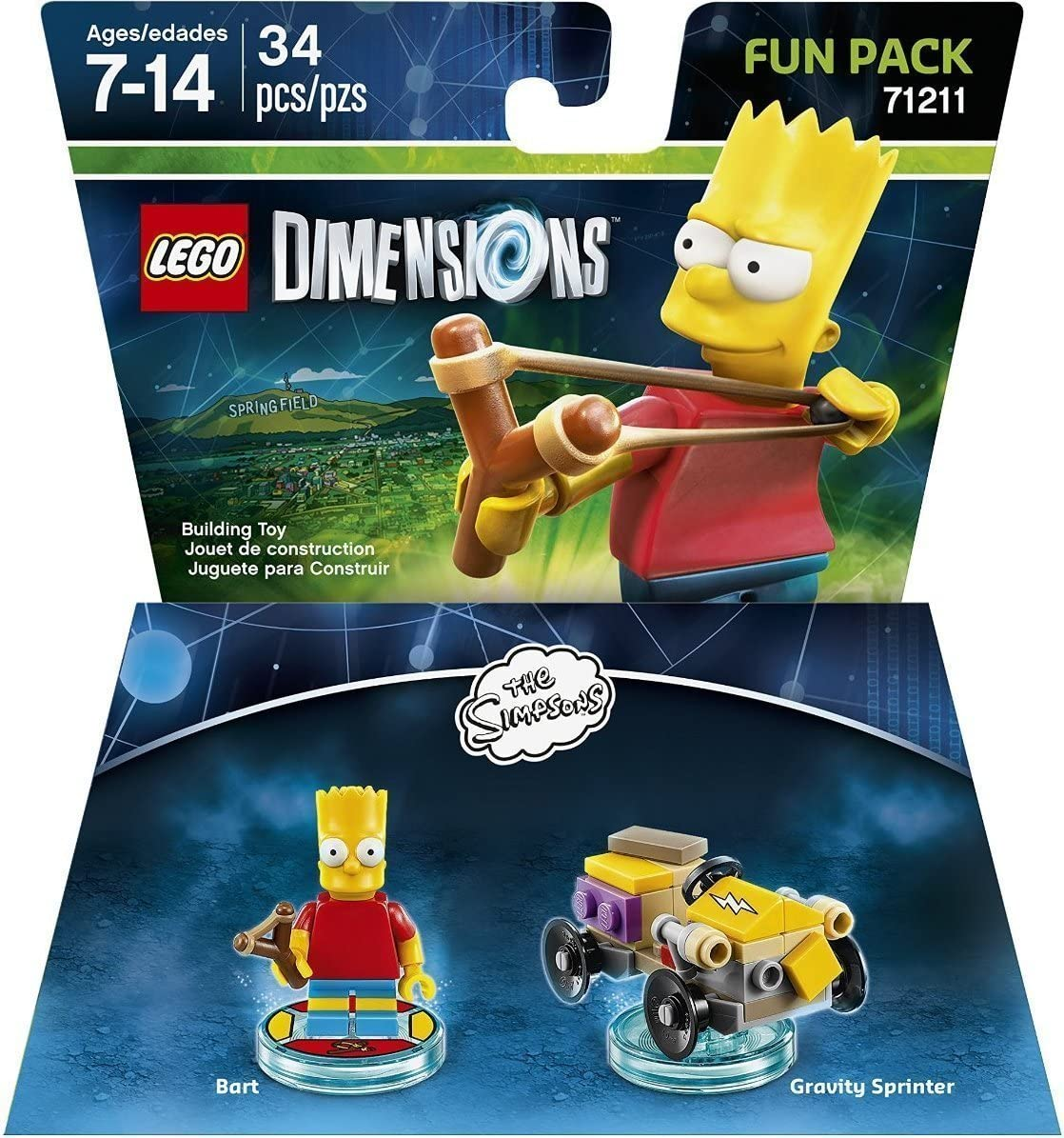 Lego Dimensions Building Toy Pack (Simpsons Bart 71211)