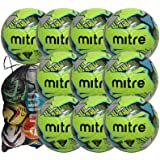 Mitre Mission Training Footballs 10 ball pack with Mitre Ball Bag