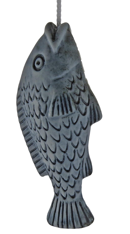Ceramic Cord Pull Fish - Blue Crafty Jungle
