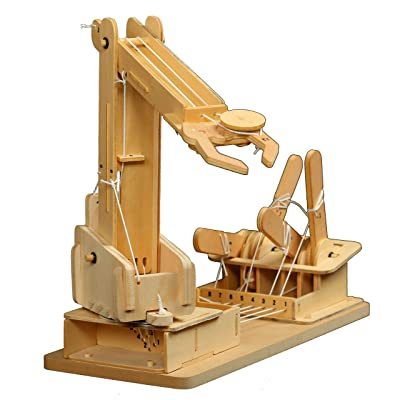 Pathfinders Premium Mega Builder Wooden Crane STEM Kit: Toys & Games