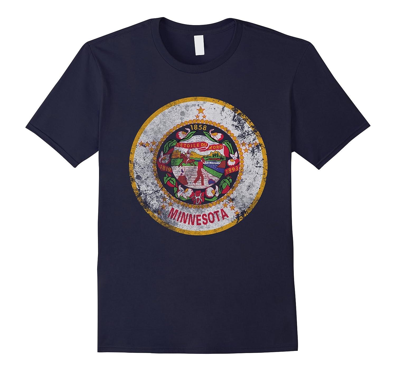 Vintage Grunge Flag of Minnesota Travel T Shirt