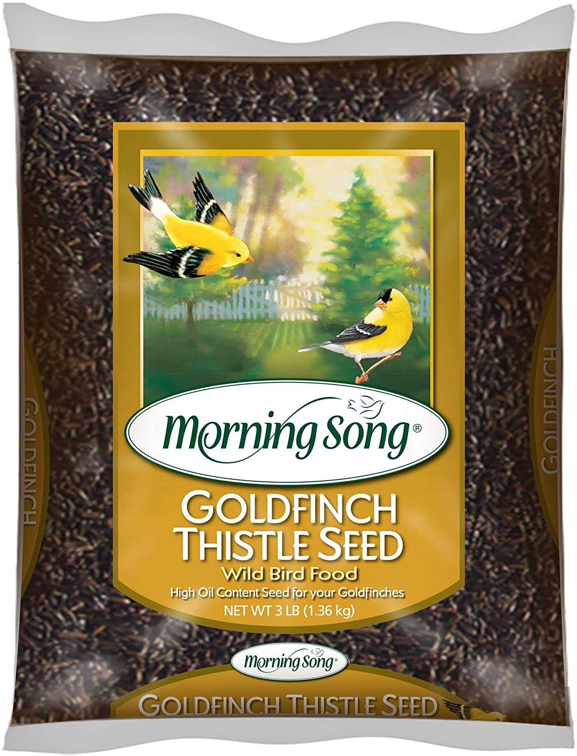 Morning Song 12000 Goldfinch Thistle Seed Wild Bird Food, 3-Pound