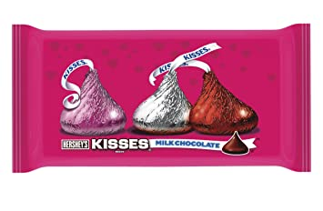 Hersheyu0027s Kisses Valentineu0027s Milk Chocolate, 11 Ounce Bag