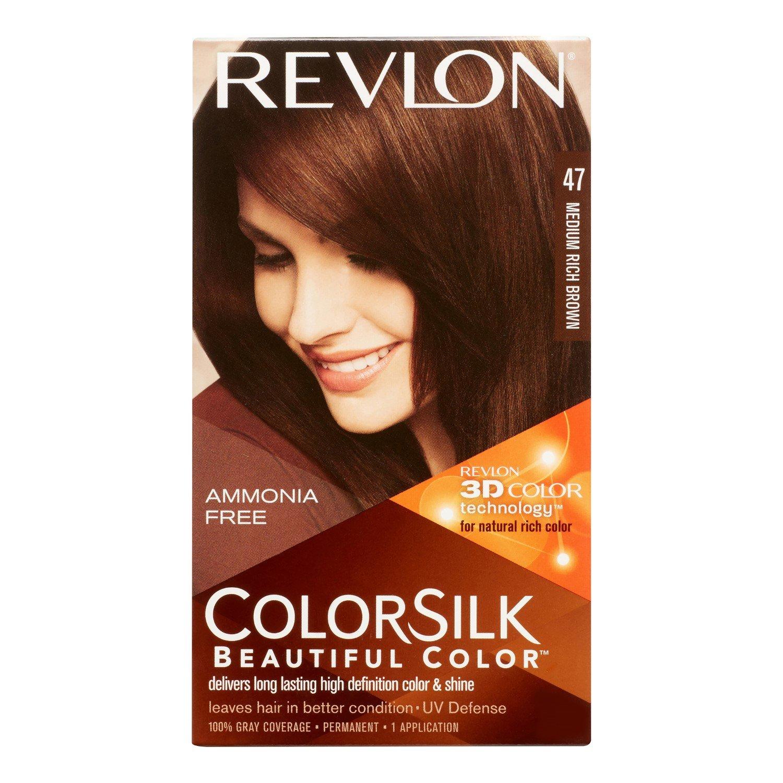 Amazon Revlon Colorsilk Hair Color 47 Medium Rich Brown 1