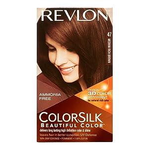 Revlon ColorSilk Hair Color, Medium Rich Brown [47] 1 ea
