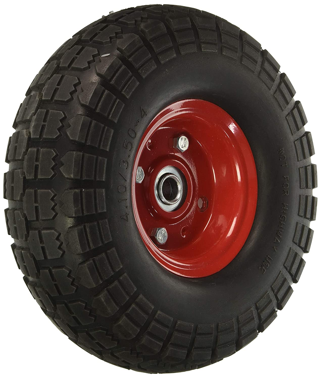 "10"" Flat Free Hand Truck Tire and Wheel with 5/8"" Center Shaft Hole 81EALxUigxL"