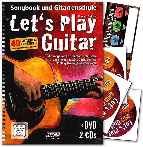 Let s Play Guitar banda 1 con 2 CD, DVD y de música de tarjeta de
