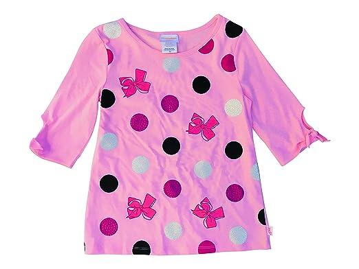 f827ac6972471 jojo siwa Bows and Polka Dots 3 4 Sleeve Tee Shirt w Ties Pink Nickelodeon  Size 4  Amazon.co.uk  Clothing