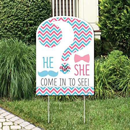 FREE SHIPPING Gender Reveal Party Welcome Yard Sign The Big Reveal