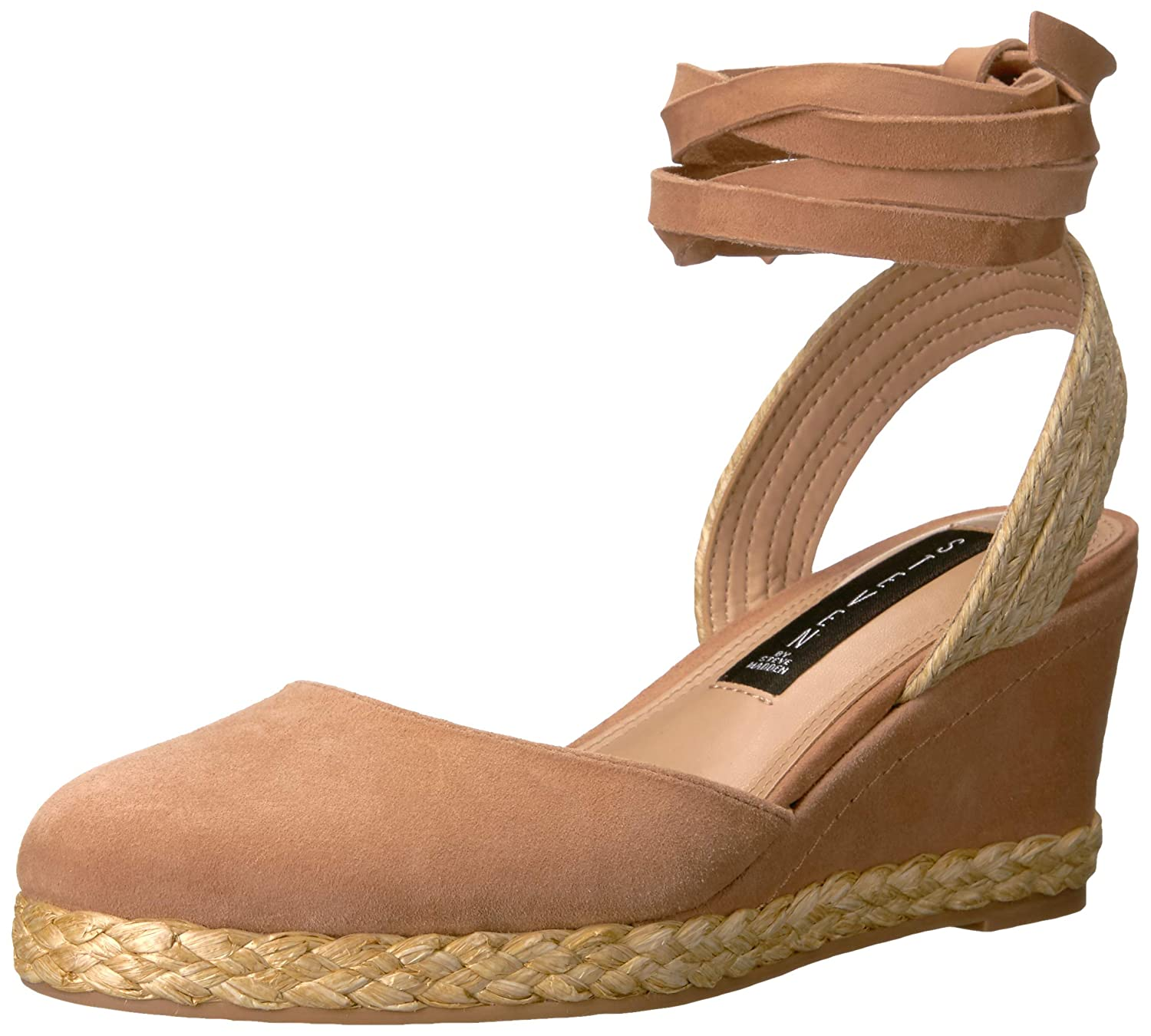 Nude Suede STEVEN by Steve Madden Womens Charly Sandal