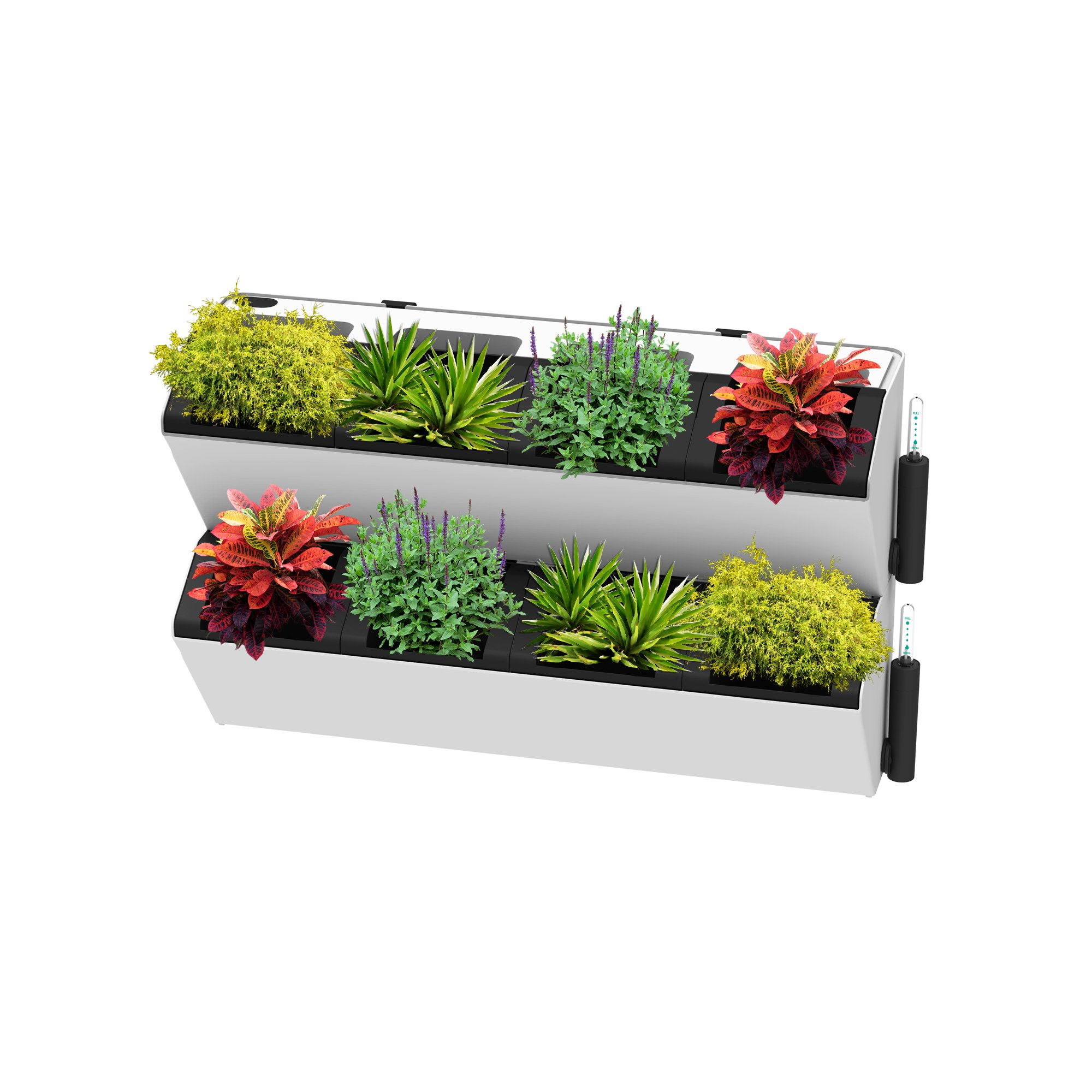 SavvyGrow BloomWall - Vertical Planter with Savvy Edge Technology - Self Watering with Hanging Bracket - Interior Exterior - Balcony Window Vegetable Gardens - Herb Growing Kit and Decors (2, Ivory)