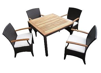 Amazon.de: Rattan Gartenmöbel   Garten Tisch Set für 2 oder 4