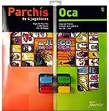 Fournier - Tablero Parchís/Oca y fichas, 40 x 40 cm, para 4 Jugadores (F29467)