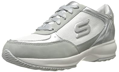 Skechers Women's Activate Fashion Sneaker,Silver,5 ...