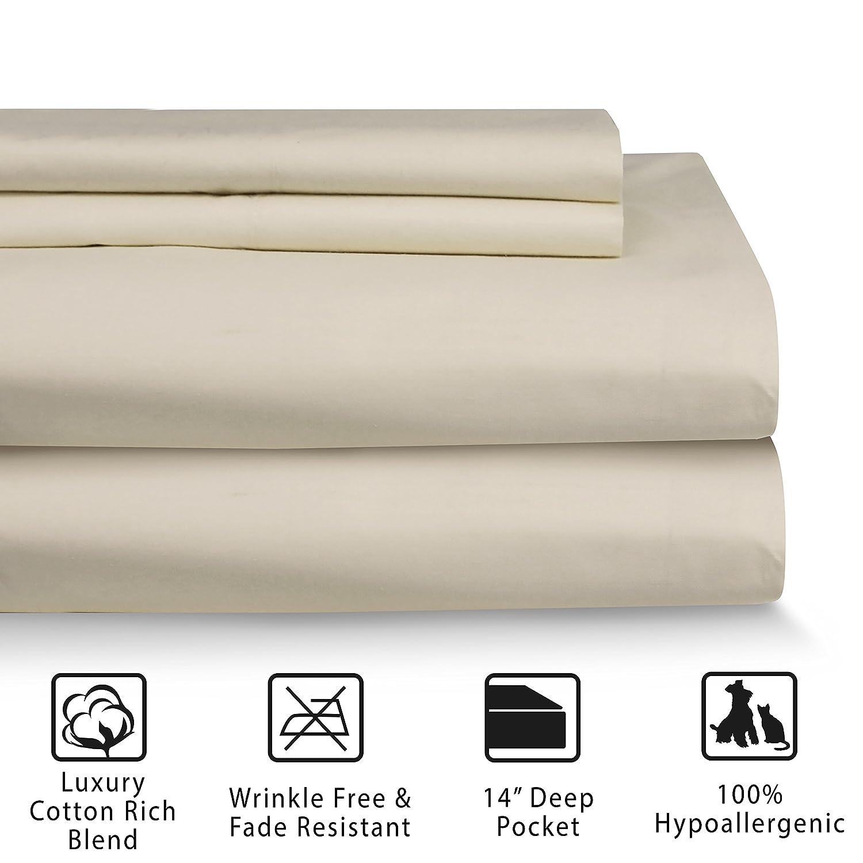 Hotel Laundry Cotton Rich Sheet Set Twin Linen Rio Home Fashions SS-001-1TLIN