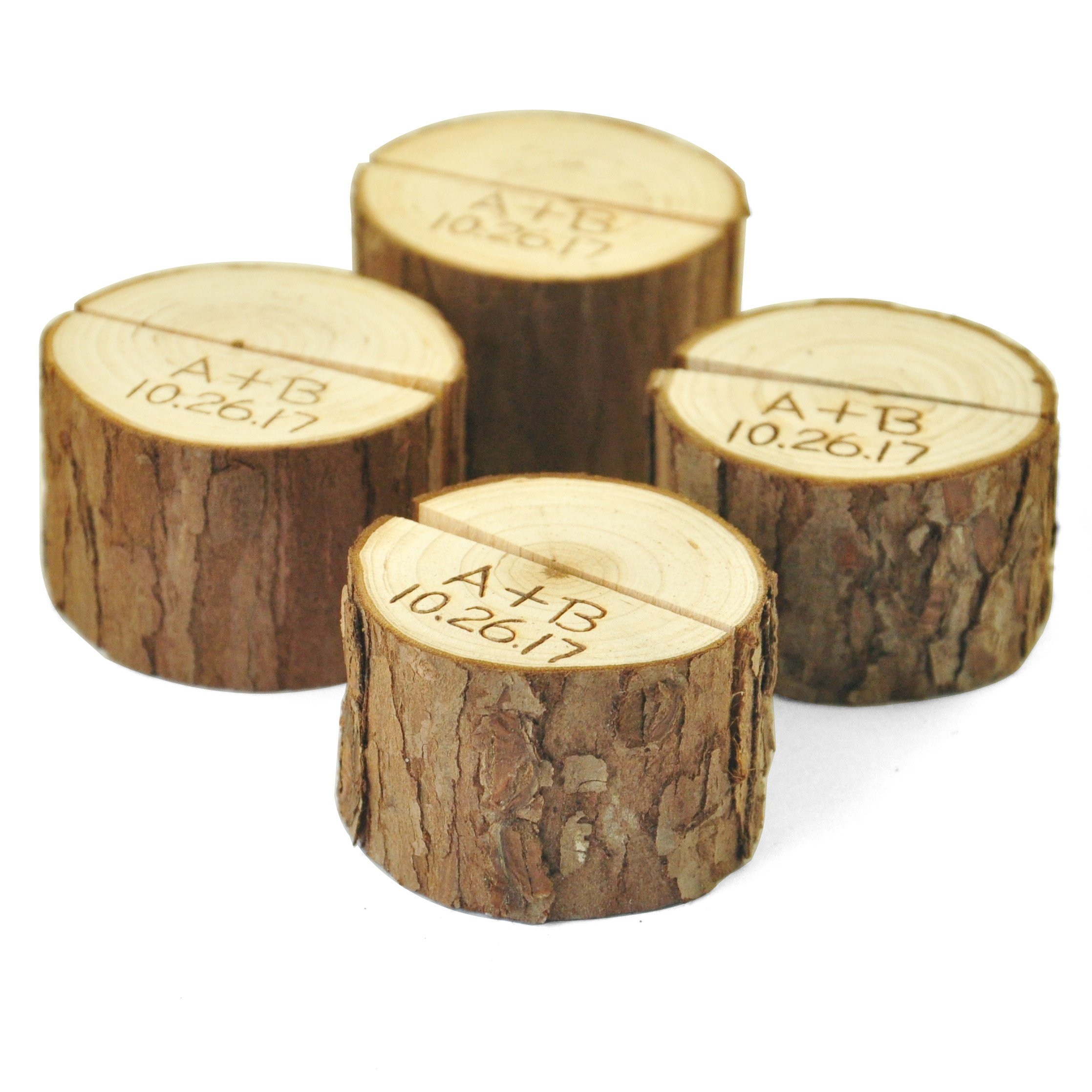 Set of 10 Personalized Wood Table Number Holder,Table Number 1-10 Holder,Wedding place card holder,Rustic table Party decor by ZXB JEWELRY (Image #4)