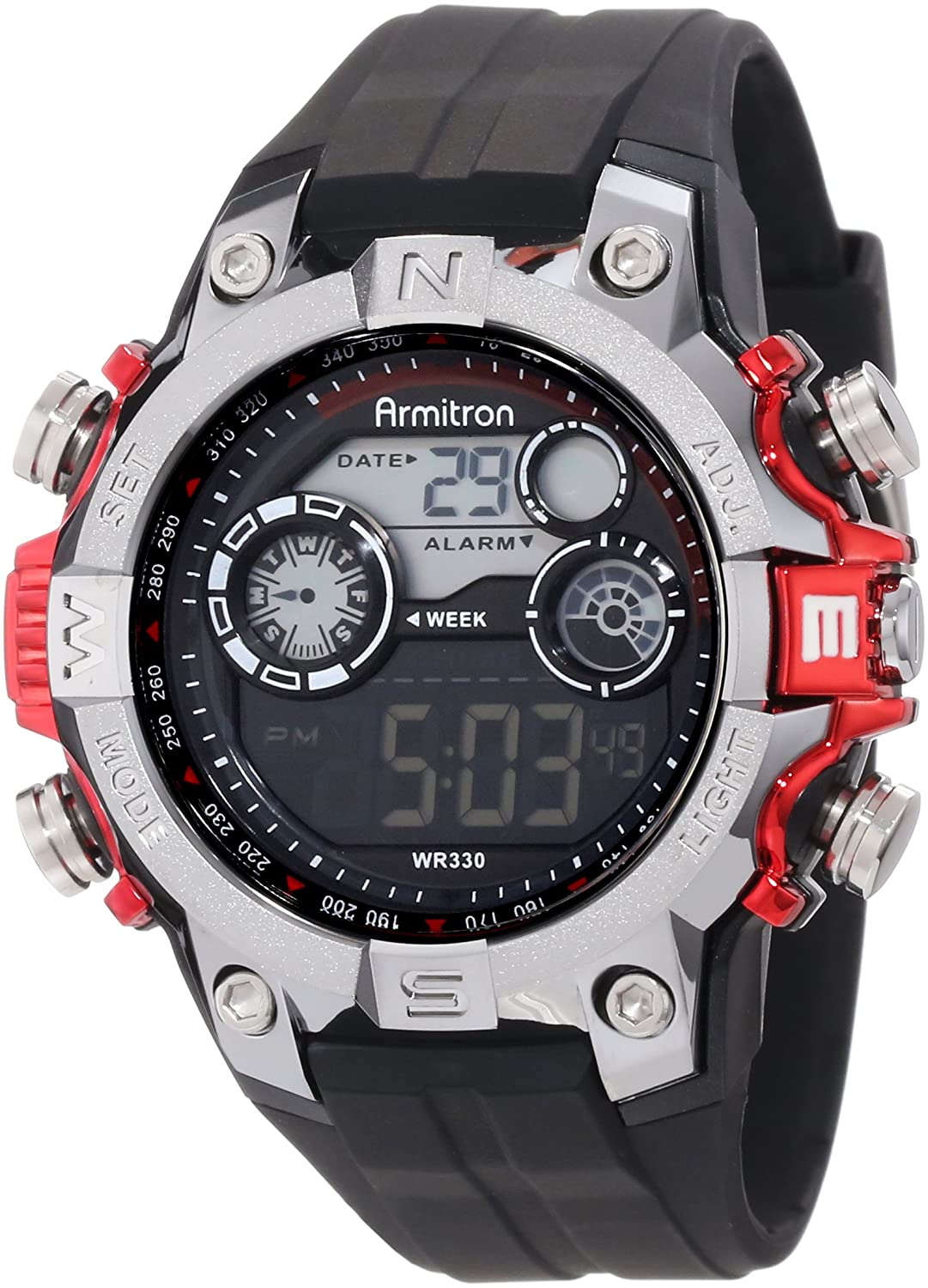 Buy armitron sport mens 408251red digital watch online at low buy armitron sport mens 408251red digital watch online at low prices in india amazon fandeluxe Gallery